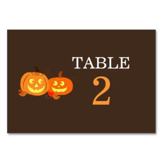 Pumpkin Jack O Lantern Wedding Table Card
