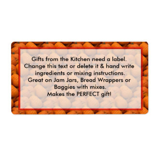 Pumpkin Labels Gifts from the Kitchen need labels