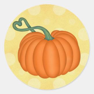 Pumpkin Love Round Sticker