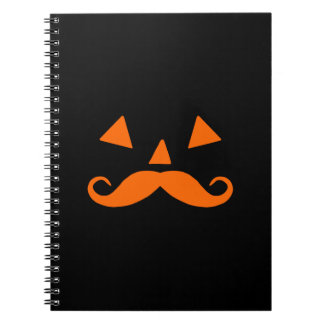 Pumpkin Moustache Notebooks