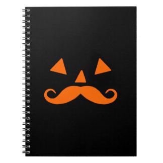 Pumpkin Moustache Notebooks
