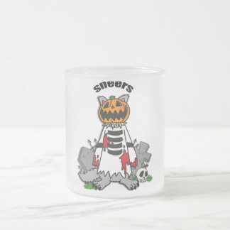 Pumpkin photographic fog frosted glass mug