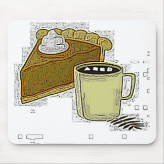 Pumpkin Pie And Coffee Mousepad
