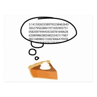 Pumpkin Pie and Math Postcard