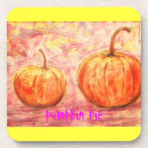 pumpkin pie art drink coaster
