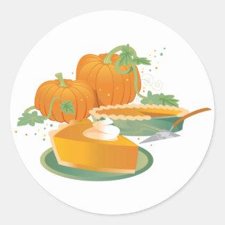 Pumpkin Pie Classic Round Sticker