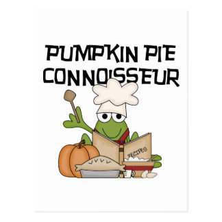Pumpkin Pie Connoisseur Tshirts and Gifts Postcard