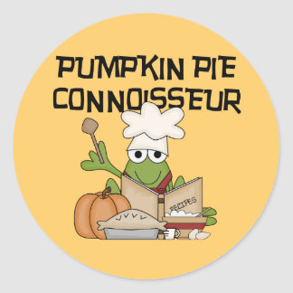 Pumpkin Pie Connoisseur Tshirts and Gifts Round Sticker