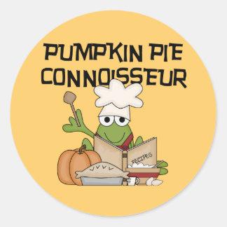 Pumpkin Pie Connoisseur Tshirts and Gifts Round Sticker