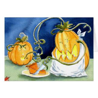 Pumpkin Pie Eater Greeting Card