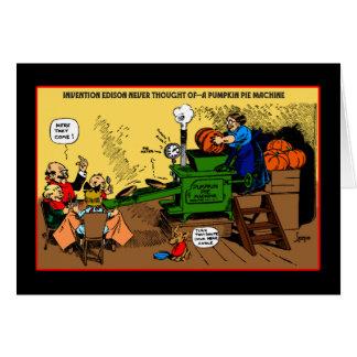Pumpkin Pie Machine holiday card