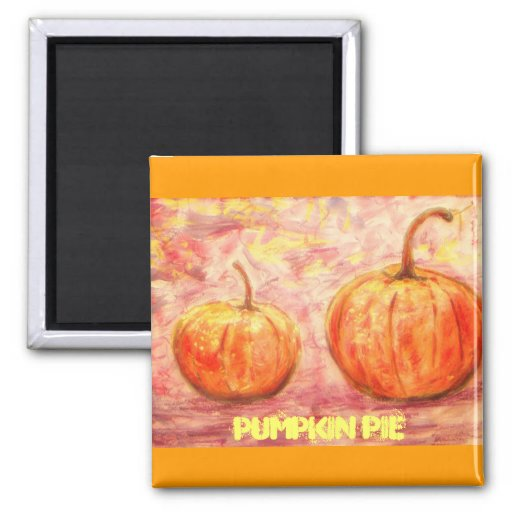 pumpkin pie fridge magnet