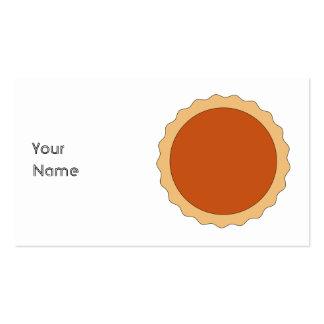 Pumpkin Pie. Pack Of Standard Business Cards