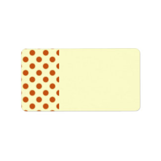 Pumpkin Pie Pattern. Address Label