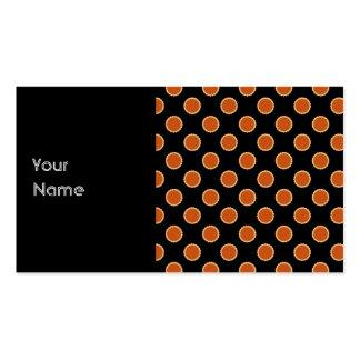Pumpkin Pie Pattern. Business Card Template