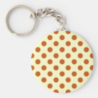 Pumpkin Pie Pattern. Basic Round Button Key Ring