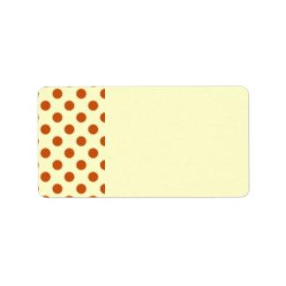 Pumpkin Pie Pattern. Address Label
