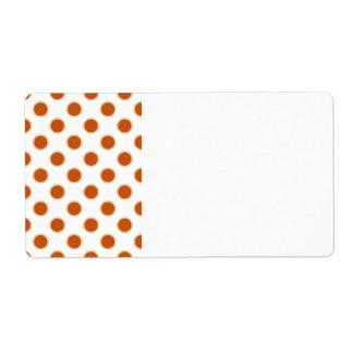 Pumpkin Pie Pattern. Shipping Label
