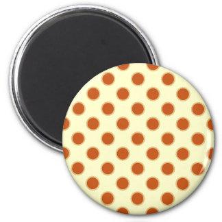 Pumpkin Pie Pattern. 6 Cm Round Magnet