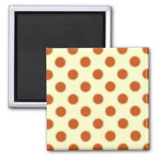 Pumpkin Pie Pattern. Square Magnet