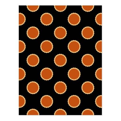 Pumpkin Pie Pattern. Post Card