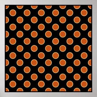 Pumpkin Pie Pattern. Poster