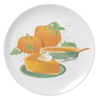 Pumpkin Pie Dinner Plates