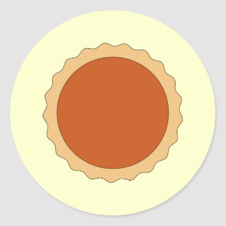 Pumpkin Pie. Round Sticker