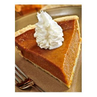 Pumpkin pie slice post cards