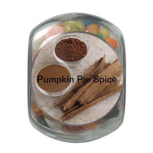 Pumpkin Pie Spice Gift Jar Glass Jars