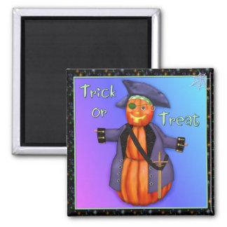 Pumpkin Pirate Halloween Square Magnet