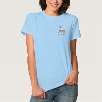 Pumpkin Schnauzer Embroidered Shirt (Polo)