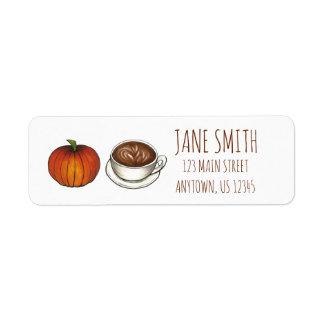 Pumpkin Spice Coffee Latte Address Labels