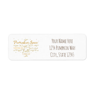 Pumpkin Spice & Everything Nice Fall Return Address Label