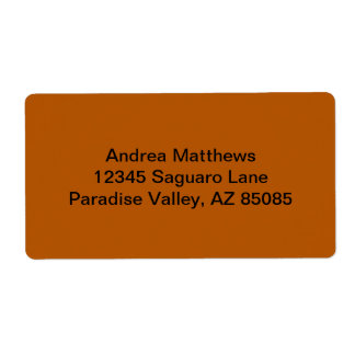 Pumpkin Spice Solid Color Shipping Label