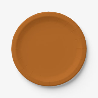Pumpkin Spice Solid Colour Paper Plate