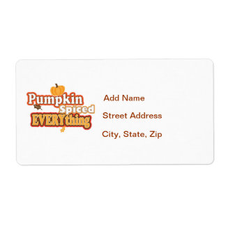 Pumpkin Spiced Everything Shipping Label