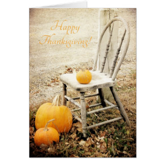 Pumpkins and Chair, Thanksgiving Card