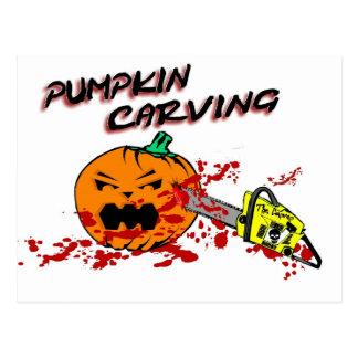 Pumpkins Carving Postcards