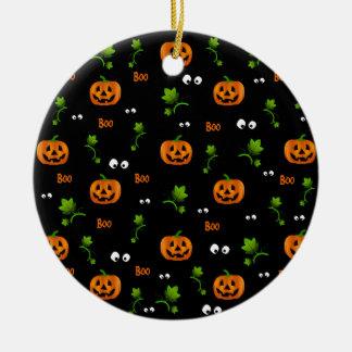 Pumpkins - Halloween pattern Christmas Ornament