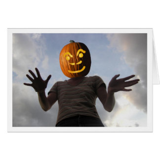 Pumpkinwoman Greeting Card