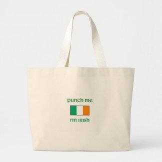Punch Me I m irish Canvas Bag