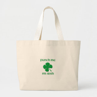 Punch Me I'm irish Canvas Bags