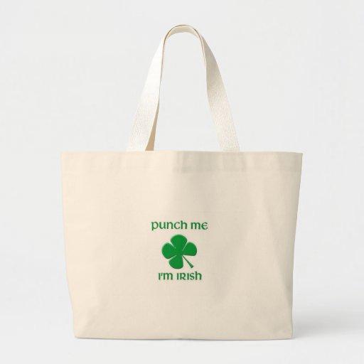 Punch Me I'm irish Canvas Bags