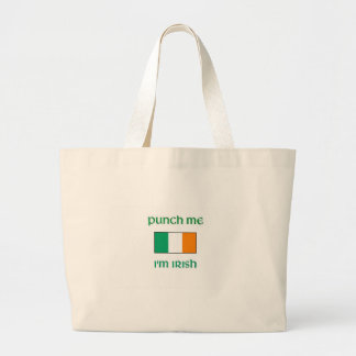 Punch Me I'm irish Canvas Bag