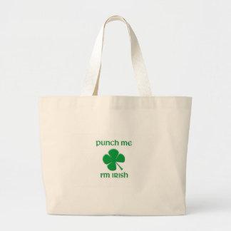 Punch Me I'm irish Jumbo Tote Bag