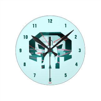 Punisher Logo Silhouette Round Clock