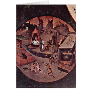Punishment Of Seven Deadly By Hieronymus Bosch Card