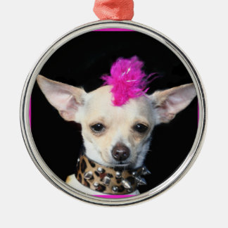 Punk Chihuahua Christmas Ornament