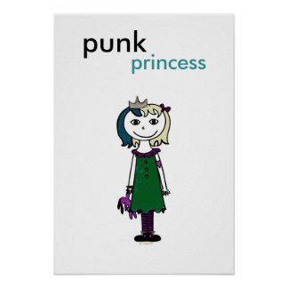 Punk Princess (blonde hair) Poster